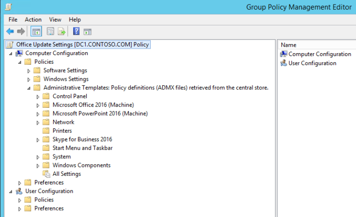 Office Group Policy Templates Deploying Group Policy Templates For Windows 10 And Office